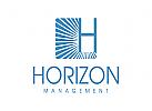 Versicherungen Logo, Buchstabe H, Horizont, Finanzen, Investitionen, Bank
