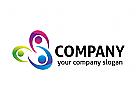 Gruppe, Menschen, Kinder, Beratung, soziale Logo