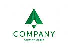 Modernes Logo, Buchstabe A