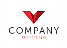 Modernes Logo, Buchstabe V