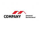 Modernes Logo, Dachdecker, Architekt