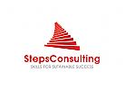 Treppen, Erfolg Logo