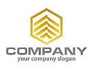 Sechseck und D�cher Logo