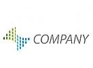 Wellen aus Rechtecken Logo