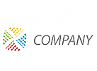 Viele Rechtecken, farbig Logo