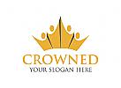 Krone, Menschen Logo, Gruppe