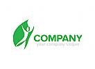 Blatt, Blume, Natur, Tee Menschen, Logo