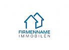 Klempner Logo, Haus, Dach, Immobilien, Bau, Architektur