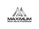 Metall, Industrie, Metallurgie, Eisen, Stahl Logo
