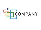 Logo Rechtecke, Fenster
