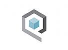 Logo W�rfel, Buchstabe Q