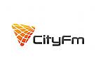 Elektronik, Technologie Logo, ton, welle, Musik