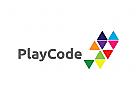 Spiel Logo, bunt, Medien, Musik, Technik