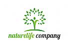Öko, Zeichen, Signet, Logo, Mensch, Natur, Baum, Heilpraktiker