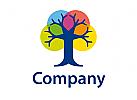 Baum Farben Vielfalt Logo