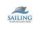 Logo Jacht, Schiff, Segel
