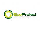 Ökologie, Recycling, grün, Blatt Logo