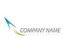 Flugzeug, Rakete Logo