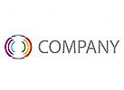 Viele Kreise, farbig Logo