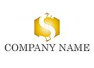 Zeichen, Zeichnung, Symbol, Sechseck, Buchstabe S, Gold, Logo