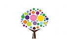 Zeichen, Signet, Logo,  Baum, Mensch