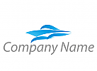 Schiff, Boot und Wellen Logo