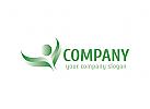 Blatt, Natur, gr�n, Vegetarier Logo