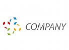 Zeichen, Zeichnung, Rechtecke, farbig, Logo
