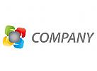 Zeichen, Zeichnung, Technologie, Rechtecke, farbig, Logo