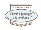 Modern Vintage Logo f�r Club, Restaurant, Bar, Lounge und andere Gastronomie