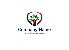 Baum, Hertz, Natur, �kologie, Blatt, Paar Logo