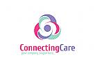 Pflege, Gruppe, Menschen, Pflegeheim , Mutterschaft logo