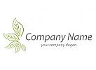 F�nf bl�tter in gr�n Logo