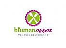 Logo f�r veganes Restaurant, Catering, Imbiss,