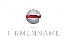 Zeichen, Signet, Logo, 3D, Kugel, Hülle, Buchstabe, E