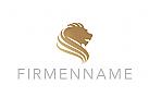 Logo, L�we, Kopf, Lion