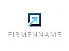 Zeichen, Signet, Logo, Pfeil, Pixel, Rechteck, IT, Finanzen, Consulting