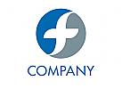 Dynamisches f Kreis Logo