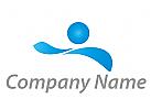 Zeichen, Skizze, Wellen, Person, Bewegung, Schwimmer, Logo