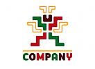 Mexikanische Figur Logo