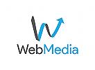 Medien Logo, Pfeil, Erfolg, Design, Welle