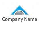 Dreieck und Halbkreis Logo