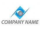Rechteck und Kugel Logo