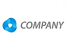 Drei Tropfen in blau Logo