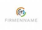 Logo, Abstrakt, Kreise, Segmente, IT