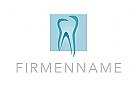 Logo, Zahnarzt, Zahnarztpraxis, Dentallabor, Quadrat, Abstrakt
