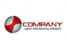 Technologien, Kreis, Rund Logo
