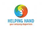 Hand Logo, Beratung, Menschen, Hilfe, Pflege, Kinder