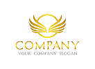 Fl�gel Logo, Gold, Adler
