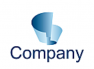 Logo abstrakte Papierwellen